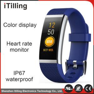 Pantalla en color Venta caliente reemplazables con pantalla táctil inteligente de la correa de reloj de pulsera Pulsera Brazalete