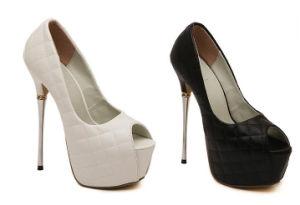 Nuevo diseño de moda Dama de Tacón Zapatos de Vestir (S04)