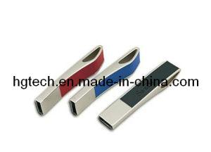 革ケースの金属USBの棒