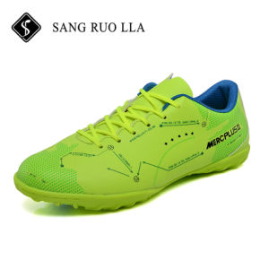 Nuevo diseño profesional Popular todo verde Mens Zapatos de fútbol en venta