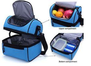 Boîte à lunch bleu sac à lunch isotherme grand sac fourre-tout du refroidisseur pour hommes, femmes Grande pour le travail, camping, les pique-niques, le sac de plage