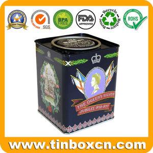 Relieve 125g/4.4oz escuadra metálica Desayuno hermético latas de té para la boda