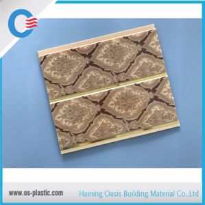 L'impression de panneaux de plafond en PVC de panneaux muraux en PVC avec Golden Lignes de la largeur de 8 pouces