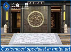 Aço inoxidável Segurança Bronze antigo porta de metal para a mesquita de entrada