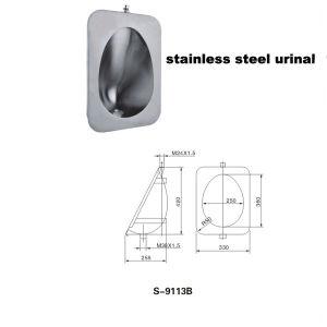 ステンレス鋼の尿瓶(9113B)