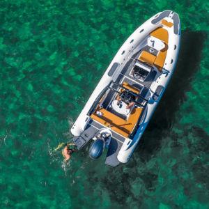 Liya 8-27m China Fabricante de embarcación inflable rígido Rib Hypalon agua pesca la velocidad del Barco Barco a la venta