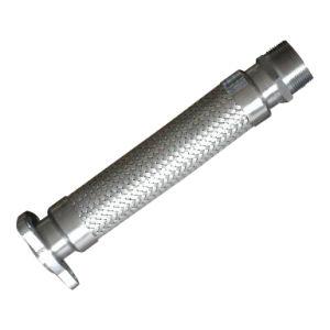 Edelstahl-gewölbter Metalschlauch mit Einfassung