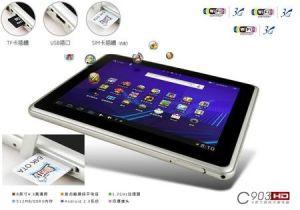 3G (WCDMA) construire, pas besoin d'un dongle de 8pouce avec Android Tablet PC capacitif 2.3 OS, double caméra devant&Back, USB, TF, WiFi
