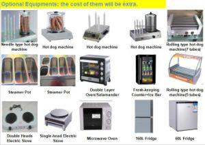 Популярных продуктов питания из нержавеющей стали (SHJ тележки для продажи в стандарте GSM300)