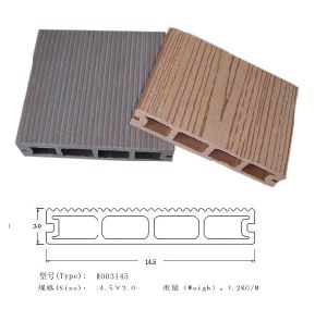Revestimento longo Eco-Friendly do Decking da garantia WPC (HO03145)