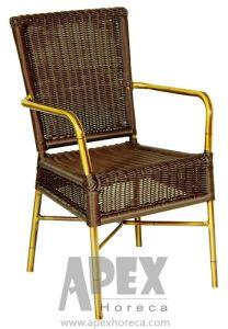 Ganascia pranzante esterna della poltrona (AS1022BR) della mobilia di bambù del caffè