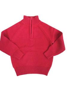 Enfants Les enfants garçons100%pullover en tricot de coton Pull avec la moitié de fermeture éclair