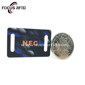 Carte plastique PVC Keytag RFID Ufh carte sans contact avec les données codées