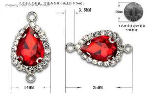 보석 만들기를 위한 도매 수정같은 펀던트 모조 다이아몬드 연결관 (TC 하락 10*14)