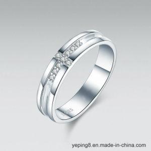 De Kroon van het Hart van de diamant en de Dwars Zilveren Ring van de Minnaars van Juwelen