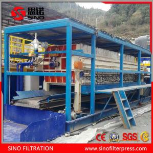 Prensa de filtro automática montada vehículo para el tratamiento de aguas residuales de dragado