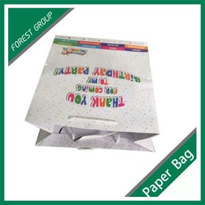 로고를 가진 인쇄된 선물 주문 쇼핑 종이 봉지