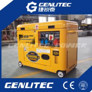Air-Cooled 4-тактный дизельный двигатель портативный Silent 5 квт электрический генератор
