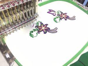 中国の単一のヘッド帽子およびTシャツおよび平らな刺繍機械織物の機械装置の製造者