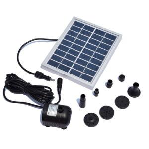 9V 2W de energía solar fuente decorativa las bombas de agua