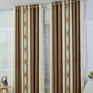 2017 Design Quente Pelúcias listras verticais cortinas cortina (15F0070)
