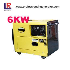 휴대용 침묵하는 디젤 엔진 발전기, 6kw- 7kw 전기 시작 방음 발전기