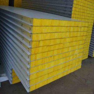 La décoration des matériaux de construction incombustible Glassfiber coton Conseil sandwich composite