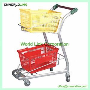 高品質の多重スーパーマーケットのカートのショッピングトロリー
