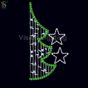 Van het LEIDENE van het Ornament van Kerstmis Straatlantaarn van de Ster Motief van de Verlichting de 2D