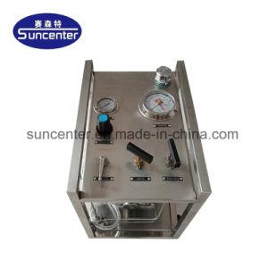 Suncenter携帯用モデル: Dgg40 40:1圧力320棒は圧縮空気油圧圧力試験のポンプ施設管理を出力した
