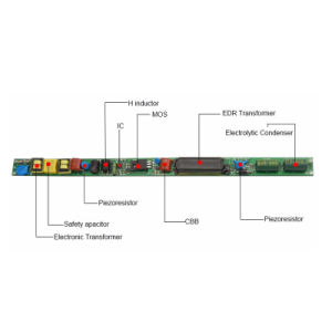 T5 T8 T10 No aislado Controlador de LED de luz del tubo de alimentación para