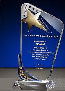 K9 de cristal personalizado el Premio Trofeo artesanal de vidrio para el ganador Ks04077