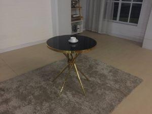 Oro Rosa personalizados moderna mesa de café de acero inoxidable