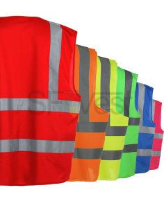 Chaleco alta visibilidad Ropa de trabajo Ropa de advertencia de seguridad de protección uniforme