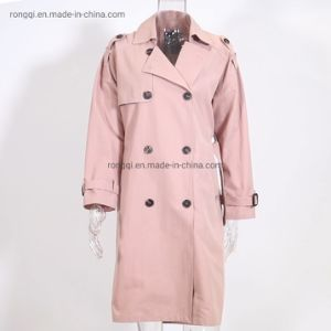 Mesdames Long trench-coat occasionnels de mode