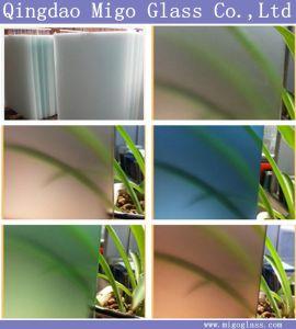 La radura/ha colorato il vetro glassato inciso acido decorativo di vetro/arte