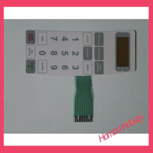 Teclados de Superposición de gráfico de control remoto del conector del interruptor de membrana de la llave de contacto