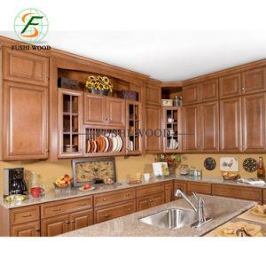 Estándar Norteamericano de madera sólida mueble de cocina de lujo ...