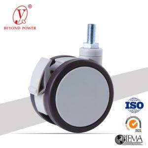 PVC 75 mm ruedas giratorias con freno para el equipo de atención médica