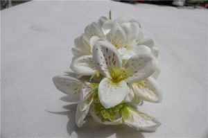 実質の接触結婚式の装飾のための白い蘭の人工花