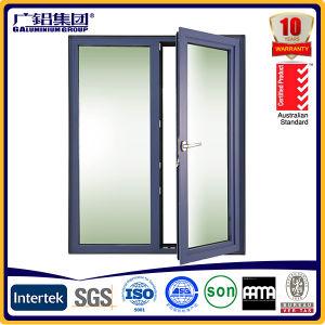 Finestra interna della stoffa per tendine di apertura dell'oscillazione con vetro Tempered/stoffa per tendine placcata di alluminio Windows