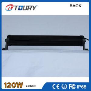 A barra de luz LED 120W única linha 4X4 Lâmpada de Curva de iluminação automática
