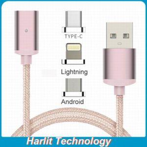 Cavi staccabili della carica di dati del USB del cavo di carico magnetico per il iPhone 7 staccabile con il connettore magnetico compatibile con il tipo Android unità dell'IOS di C