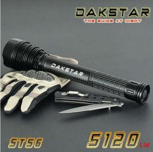 Dakstar St56 Xml CREE T6 5.120 lm 26650 o 18650 Táctico de aluminio alto brillo de alta potencia LED linterna recargable (ST56)