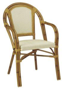 Mobilia esterna del caffè del giardino, Bambù-Come la sedia di Textilene (BZ-CB003)