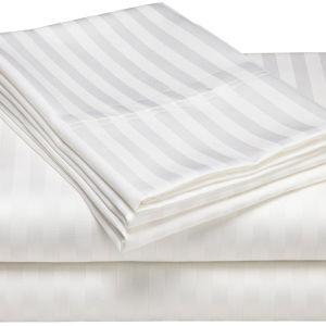 Insiemi bianchi 100% dell'assestamento della banda del cotone (DPF1025)