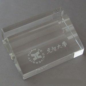 Casella di scheda di cristallo di nome di affari della cancelleria (JD-BJ-009)