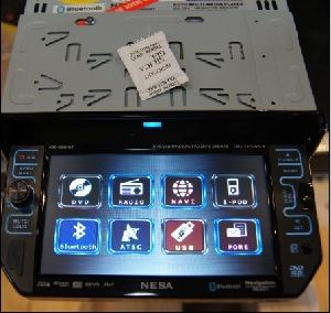 One DIN 5.8 Inch Inch Touchscreen Bluetooth iPod DVD Player