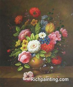 In der Roitous Überfülle klassische Blume, Ölgemälde (9)