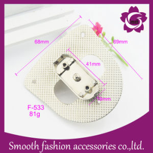 Hardware degli accessori della borsa della serratura di girata del sacchetto della lega del metallo di modo di adattamento